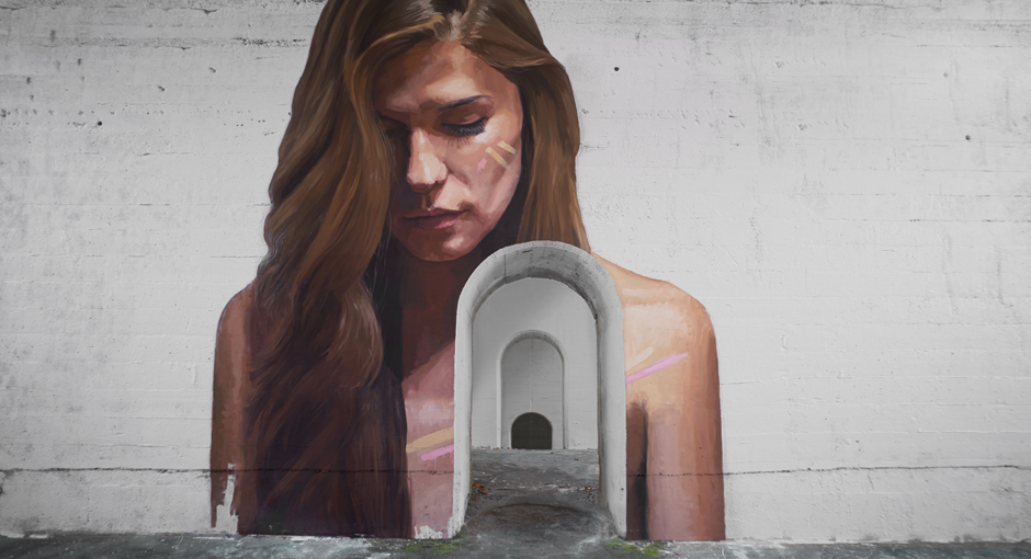 street artist Sean Yoro